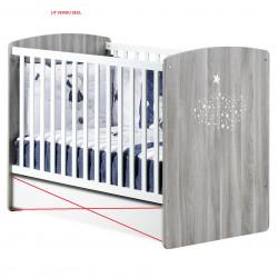Lit à  bébé à barreaux 120 x 60 cm SAUTHON Hugo Couleur Gris HU031A NEUF