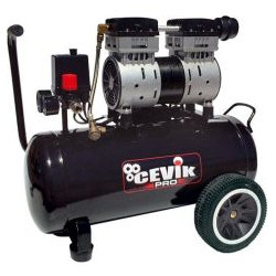 Compresseur d'air 24 litres CEVIK Pro Silenc 1,5HP NEUF déclassé