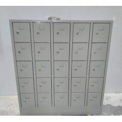Armoire vestiaire 25 casiers avec porte étiquettes