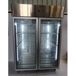 Armoire inox froid positif -2/+8°C 1400 L 2 portes vitrées OASIS DELIFOOD...