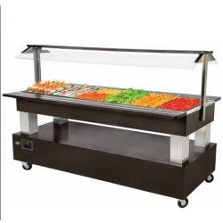 Buffet réfrigéré - Salad'Bar 6 bacs GN1/1 ROLLER GRILL SB60F - 0.5 kW...