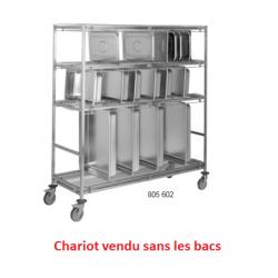 Chariot porte bacs GN en inox TOURNUS EQUIPEMENT Longueur 1200 mm 805602 NEUF