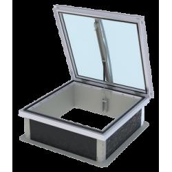 Lanterneau fenêtre de toit accès toiture avec grille en acier BLUETECK...