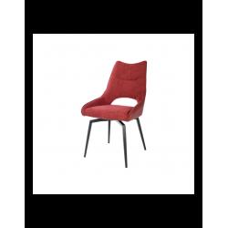 Lot de 2 chaises intérieurs TABLACASA modèle Furtif pivotante en tissu rouge...
