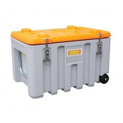 Box chantier - Caisse de transport 150 Litres CEMO Cembox Trolley  en...