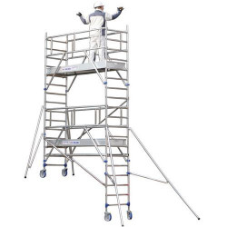 Echafaudage roulant en aluminium 4.85m TUBESCA Totem 2 box 250 26403730 NEUF