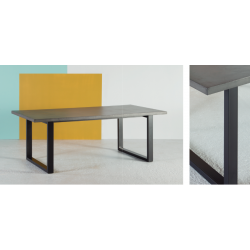 Table de salle à manger plateau béton ciré NEOH DESIGN Gamme Eternelle -...