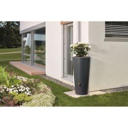 Cuve - Récupérateur eau pluie anthracite 220 L GARANTIA en polypropylène avec...