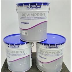 Lot 3 pots de 15 Litres peinture extérieur CORONA BATIMENT Revimprint...