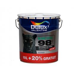 Pot de 12 Litres de peinture DULUX VALENTINE 98% opacité Blanc Satin pour mur...