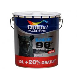 Pot de 12 Litres de peinture DULUX VALENTINE 98% opacité Blanc Mat pour mur...