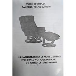 Fauteuil électrique relax Chauffant - Massant avec repose - pied  en simili...