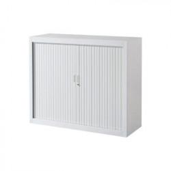 Armoire basse - bureau à rideaux L120 x H105 x P45.5 cm - NEUVE Déclassée