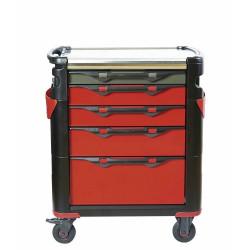 Servante d'atelier SAM 415H - plateau inox - 5 tiroirs - sans outils - Neuve...