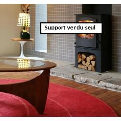 Support  bûcher - Socle bas incurvé  noir pour poêle à bois CHARNWOOD Cove 2...