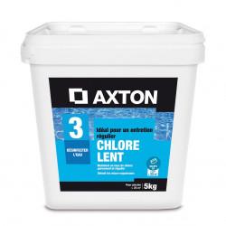 5 kg de Galet de chlore lent pour piscine AXTON 2136105 NEUF