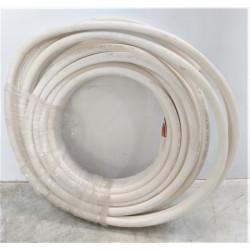 """25 m de liaison frigorifique double tubes cuivrés pré-isolés 3/8"""" 5/8""""..."""