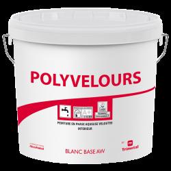 Pot de 15 Litres de peinture murale veloutée Blanc Mat TRIMETAL Polyvelours -...