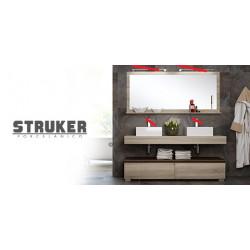 Ensemble meuble salle de bain suspendu 160 cm STRUKER Slim Double vasque...