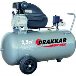 Compresseur d'air 100 Litres DRAKKAR 2.5 CV Monophasé  WBM25 - 1245  NEUF...