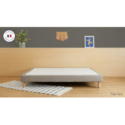 Sommier tapissier 140 x 190 x 15 cm THIRIEZ  NEUF déclassé