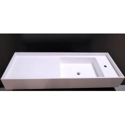 Evier - Vasque de salle de bain blanc à poser en Bétacryl Pierre acrylique...