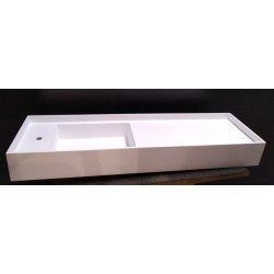 Evier - Vasque de salle de bain  blanc à poser en Bétacryl Pierre d'acrylique...