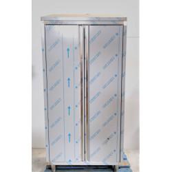 Armoire haute de rangement en inox GAFIC  2 portes battantes + 2 étagères...