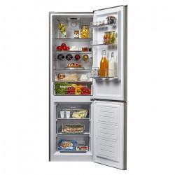 Réfrigérateur combiné Inox 305 L A++ CANDY - CSTE6184x  - l 60 x h 187 cm - NEUF déclassé