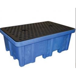 Bac palette de rétention en polyéthylène - Capacité 230 L  STOCKMAN BRP2   NEUF