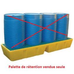Palette de rétention plastique longitudinale 450 Litres EMP BRLP 450...