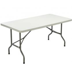 Table pliante rectangulaire 8 personnes LIFTIME 4473 en polyéthylène 183 x 76...