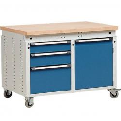 Etabli Servante  d'atelier mobile 3 tiroirs et 1 porte ERGO KIND Function...
