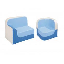 Lot de 2 fauteuils H32 cm adulte bleu WESCO
