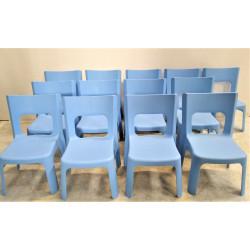 Lot de 13 chaises bleues enfant WESCO Lou  Petite taille T0 - T1 Hauteur...