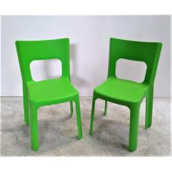Lot de 2 chaises vertes enfant WESCO Lou T3 Hauteur assise 35 cm NEUF