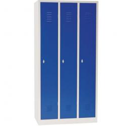 Armoire Vestiaire industrie propre 3 colonnes H180 x L89 x P50 cm  NEUF
