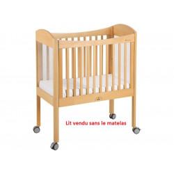 Lit bébé mobile à barreaux WESCO réglable en hauteur  L 105 cm  l 55 cm  H...