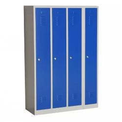 Armoire Vestiaire industrie propre 4 colonnes H180 x L118 x P50 cm - NEUF