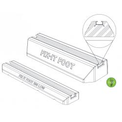 Supports au sol anti vibration - Big Foot fix-it L 500 mm pour unité extérieure pompe à chaleur et climatisation - NEUF