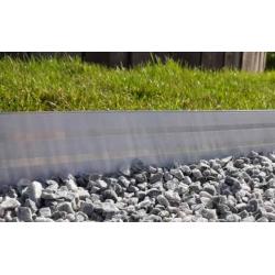 Lots de 5 bordures BORDALU Profil Droit I12 - 11 mètres aluminium design -...