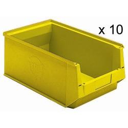 Lot de 10 Bacs à bec / boîte de stockage UTZ Silafix - 500mm x 310mm x 200mm...