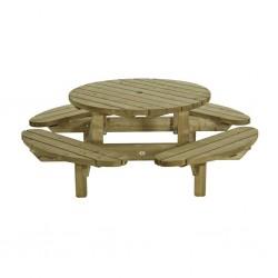 Table Banc Pique Nique LOU LOU BOY GROSEILLE diamètre 120 9011/A NEUF