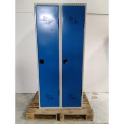 Armoire Vestiaire industrie propre ACIAL sur socle 2 colonnes