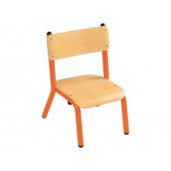 WESCO 323007 - Lot de 2 chaises oranges taille T2 Hauteur assise 31cm