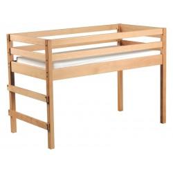WESCO 039016 - Lit mezzanine en bois massif avec matelas 120x60cm