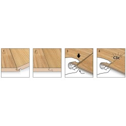 KRONOTEX D3902 - Parquet stratifié chêne beige Advanced épaisseur 8mm
