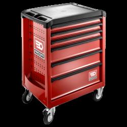 FACOM ROLL.6M3PF - Servante d'atelier 6 tiroirs 3 modules par tiroir