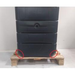 BELLI JARDIN 09925 - Récupérateur à eau mural 650 litres anthracite
