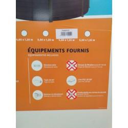 O'BYA P458GFCP - Piscine acier Diamètre 4,60m Hauteur 1,32m graphite